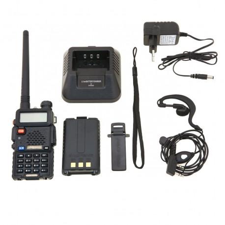 BAOFENG UV-5R WALKIE DOBLE BANDA VHF/UHF+PINGANILLO DE REGALO