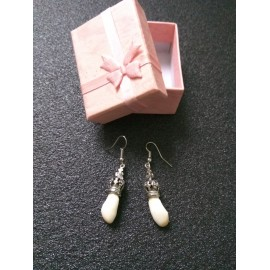 Boucles d'oreilles perle de cerf