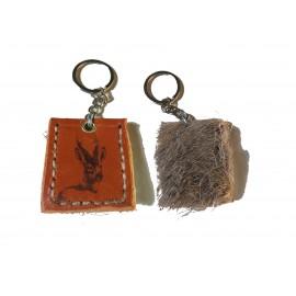 Porte-clés en cuir de chevreuil