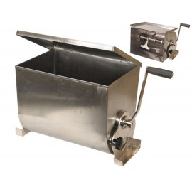 Manual mixer stainless steel lid