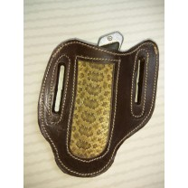 snake skin, knife belt pocket