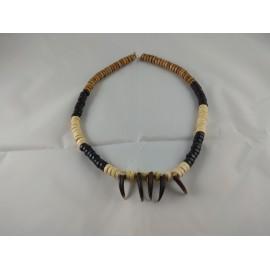 Collar amuleto de garras de coyote 1 ( Mountain men )