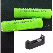 Cargador y baterías 18650